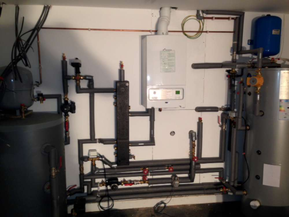 Boiler and Air Source Heat Pump