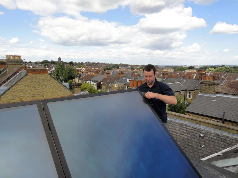 Solar Thermal Collector Installation in Kent